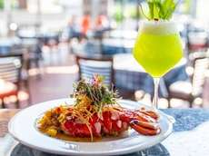 Lobster Malabar with a Saghar specialty drink at