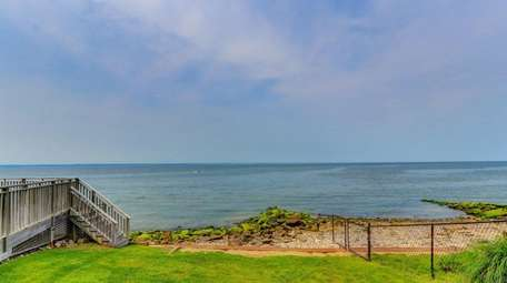 The house comes with a deeded beach, 100