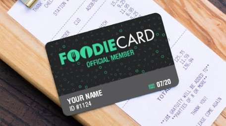 Foodie Card members pay a $29.99 annual fee