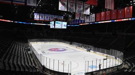 A view of the ice at NYCB Live's