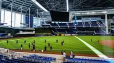 A general view of Marlins Park during Miami