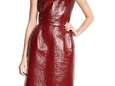 This oxblood patent leather Lanvin dress is on