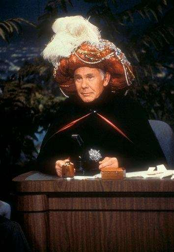 Johnny Carson, the legendary king of late-night TV,