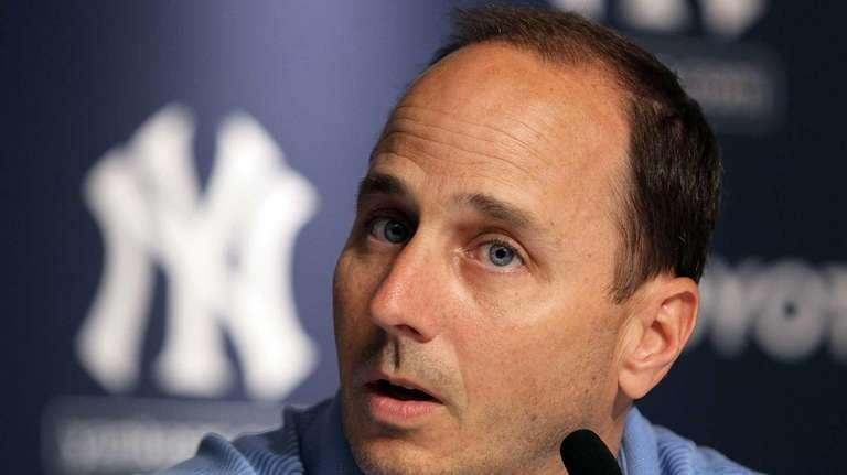 General manager Brian Cashman of the Yankees speaks