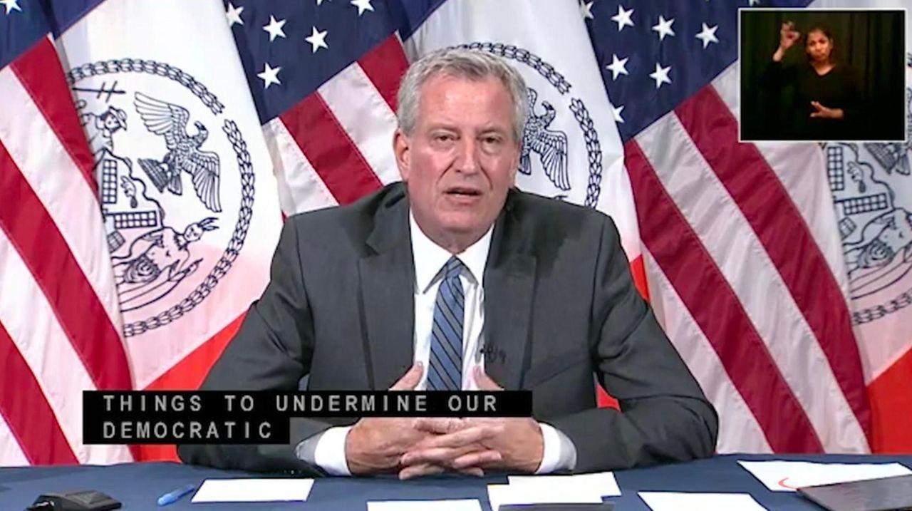 Mayor Bill de Blasio addressed the video of