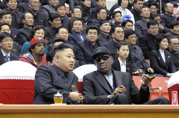 North Korean leader Kim Jong-Un and former NBA