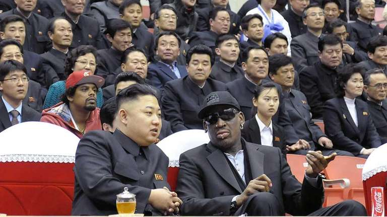 North Korean leader Kim Jong-Un and former NBA