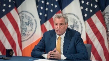 New York Mayor Bill de Blasio raised concerns