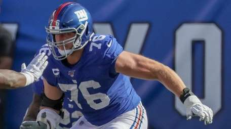 Giants offensive tackle Nate Solder at MetLife Stadium