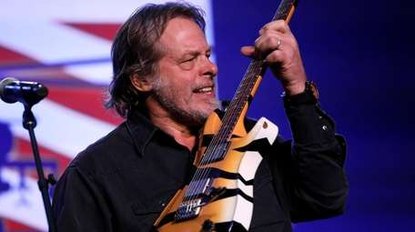 Ted Nugent performs at a rally for Republican