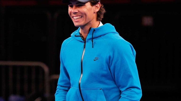 Rafael Nadal participates in on-court clinics prior to