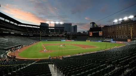 A view of Oriole Park at Camden Yards