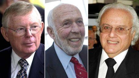 Left, Charles Dolan; middle, James Simons; right, Ira