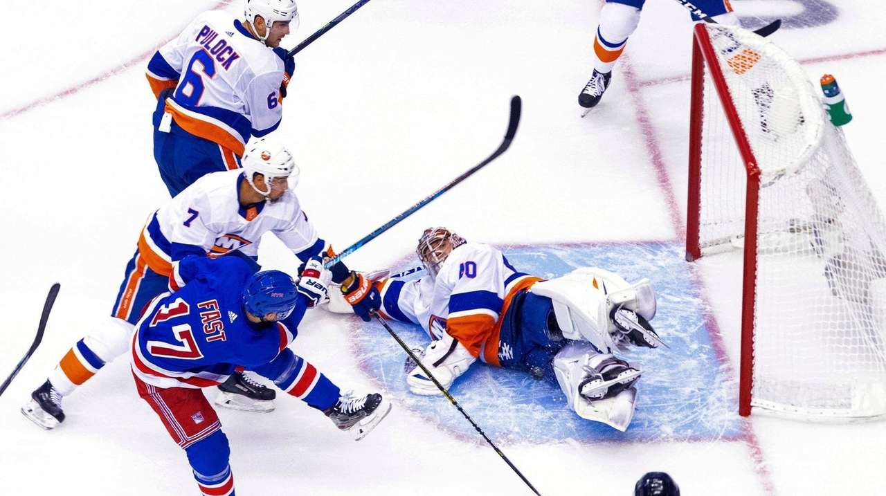 The Rangers and Islanders played a hockey game