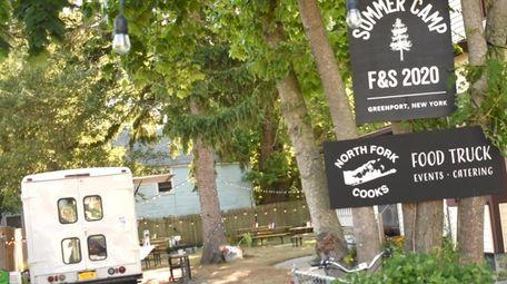 The NorthFork Cooks food truck is parking behind