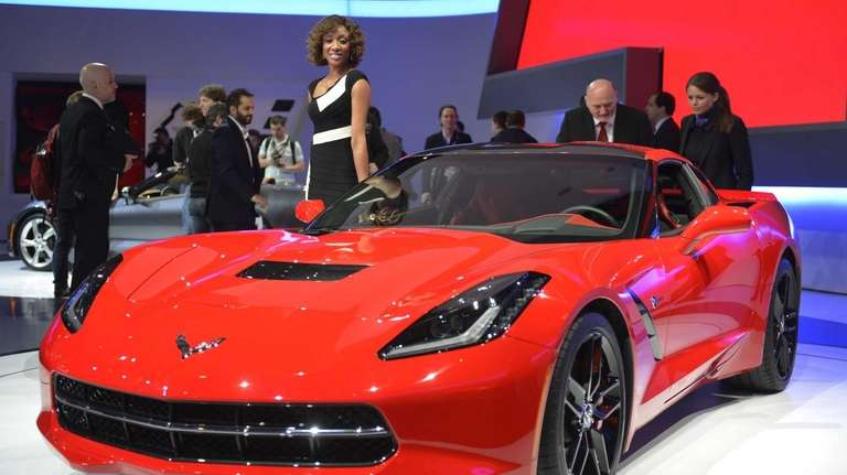 The new Chevrolet Corvette Stingray is displayed during