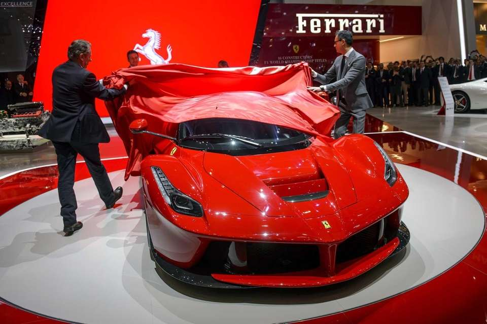 The new LaFerrari is unveiled during its world