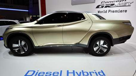 The new Mitsubishi Concept GR-HEV is shown during