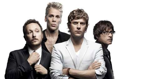 The band Matchbox Twenty performs in concert at