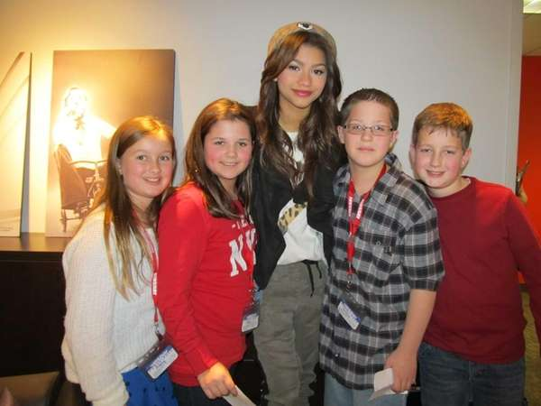Singer and Disney actress Zendaya with Kidsday reporters