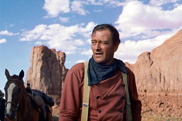 John Wayne in John Ford's classic 1956 western,