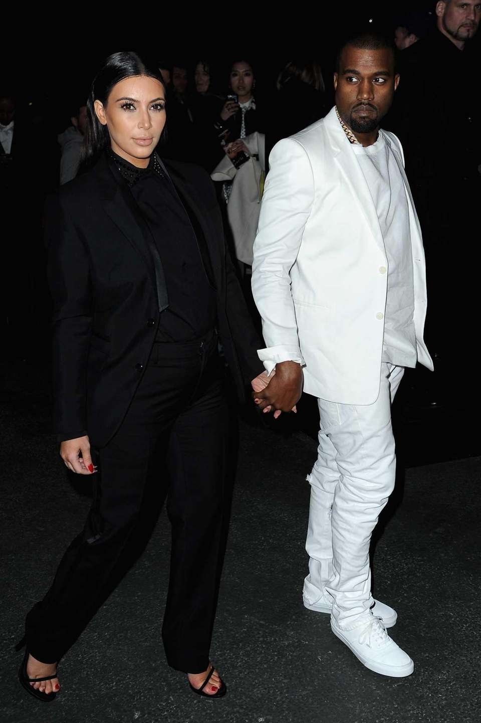 Kim Kardashian and Kanye West attend Givenchy Fall/Winter