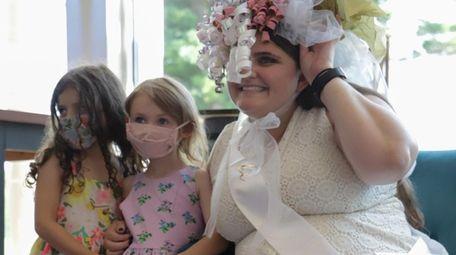 Bride Julie Marino, 29, of Massapequa Park opens