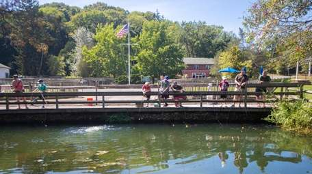 Anglers try their luck at Cold Spring Harbor