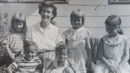 The writer, left, with her mother, Joan W.