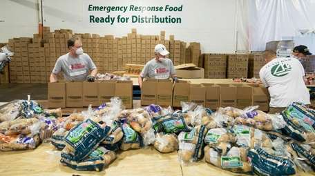 Local groups such as Island Harvest offer food