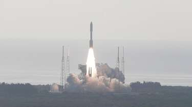 An Atlas V rockets lifts off from the