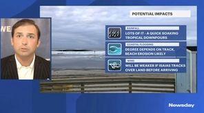 News 12 meteorologist Geoff Bansen says Hurricane Isaias