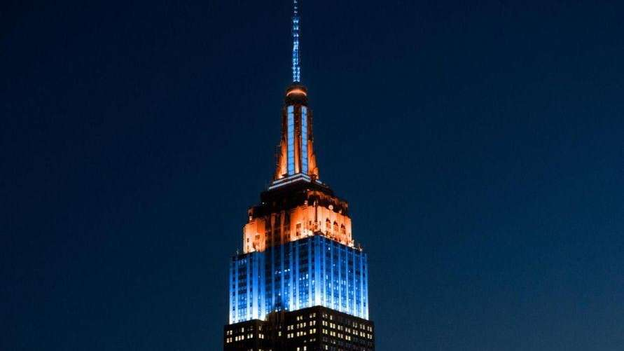 The Empire State Building was illuminated for the