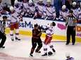 Rangers' Ryan Strome (16) fights with Carolina Hurricanes'