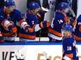 Anthony Beauvillier #18 of the Islanders celebrates with