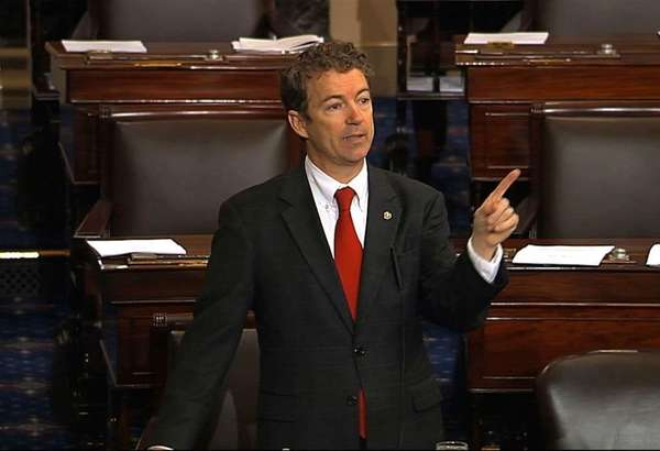 Sen. Rand Paul speaking on the floor of