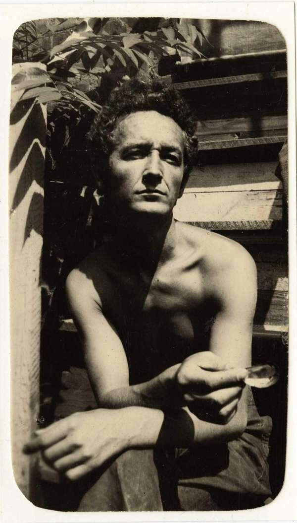 Woody Guthrie at his Mermaid Avenue home in