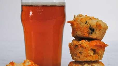 Muffins made with beer have a pleasantly malty