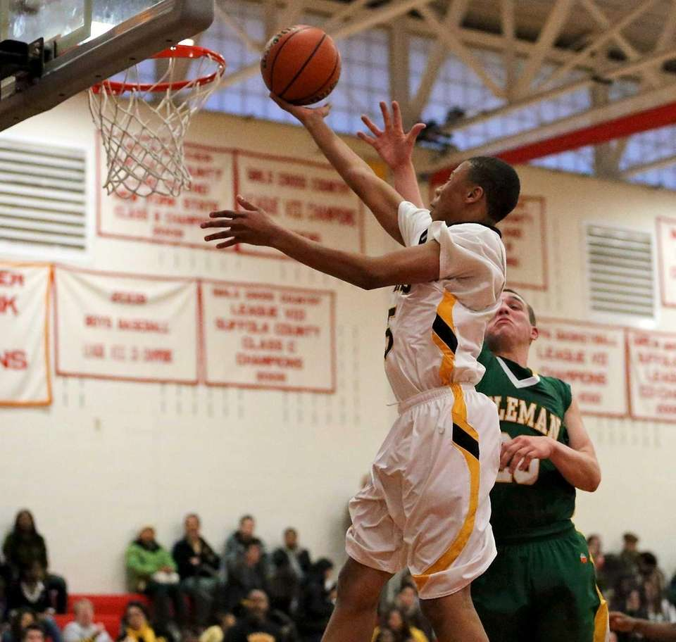 Bridgehampton's Tylik Furman puts in the layup as