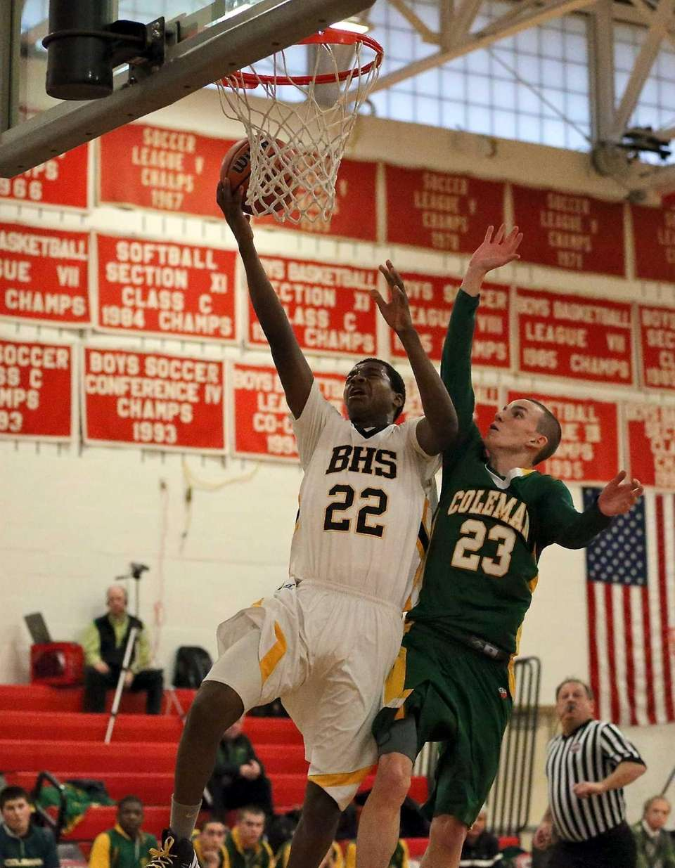 Bridgehampton's Jason Hopson sinks the layup just past