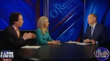 Alan Colmes, Monica Crowley and Bill O'Reilly on