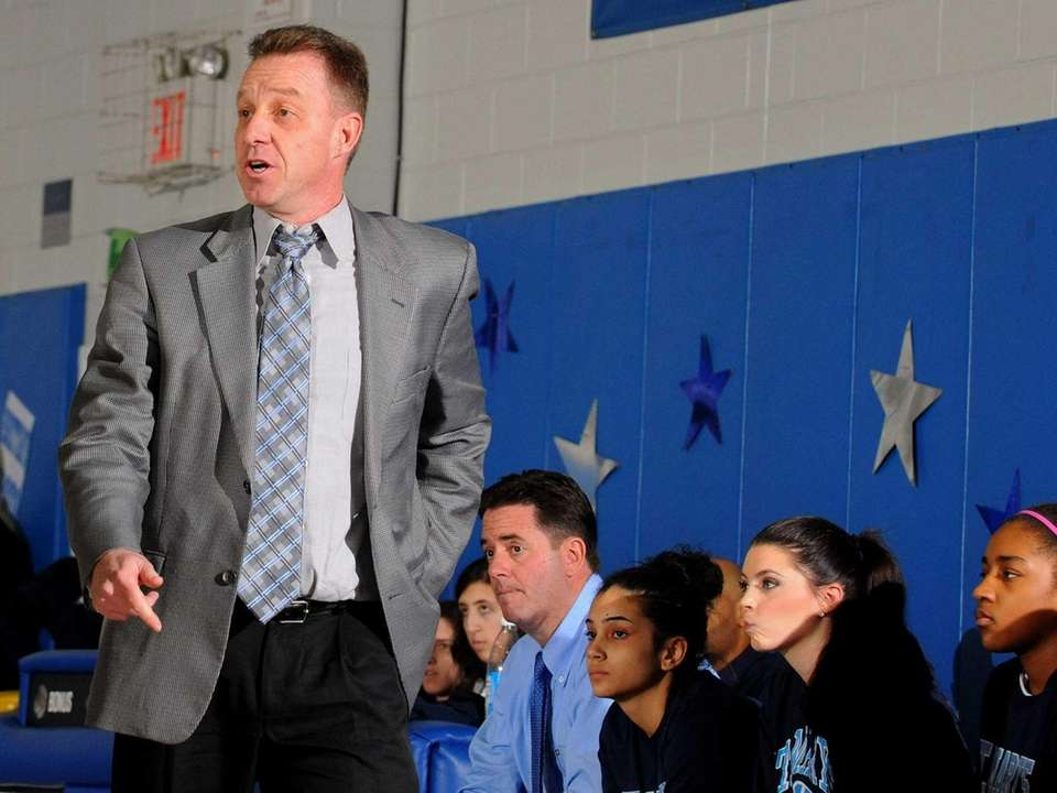 St. Mary's varsity girls' basketball head coach Tom