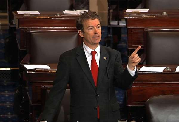 Sen. Rand Paul, R-Ky speaks on the floor