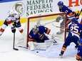 Semyon Varlamov #40 of the Islanders makes a