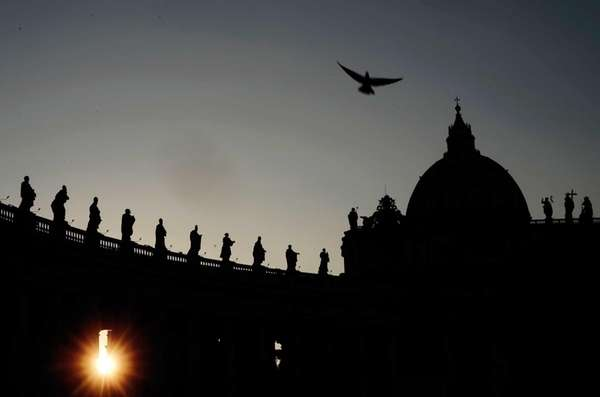 St. Peter's Square at the Vatican. (Mar. 4,