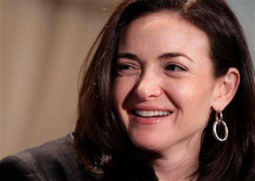 Sheryl Sandberg, Facebook's chief operating officer, speaks at