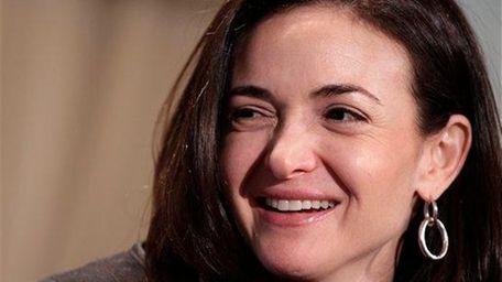 Sheryl Sandberg, Facebook's chief operating officer, speaks at