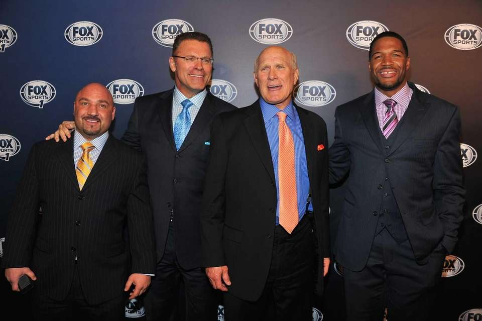 From left, Jay Glazer, Howie Long, Terry Bradshaw