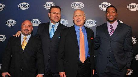 From left, Jay Glazer, Howie Long, Terry Bradshaw
