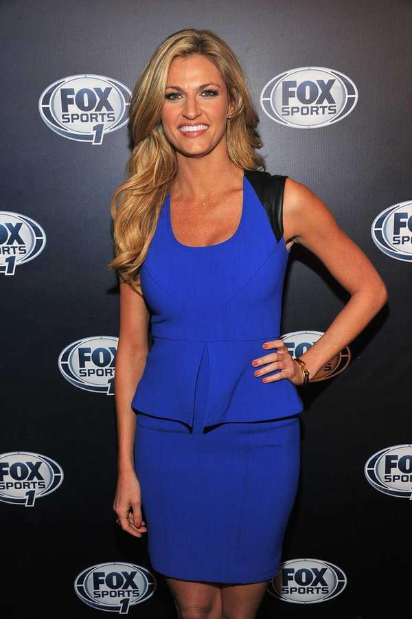 Erin Andrews attends the 2013 Fox Sports Media
